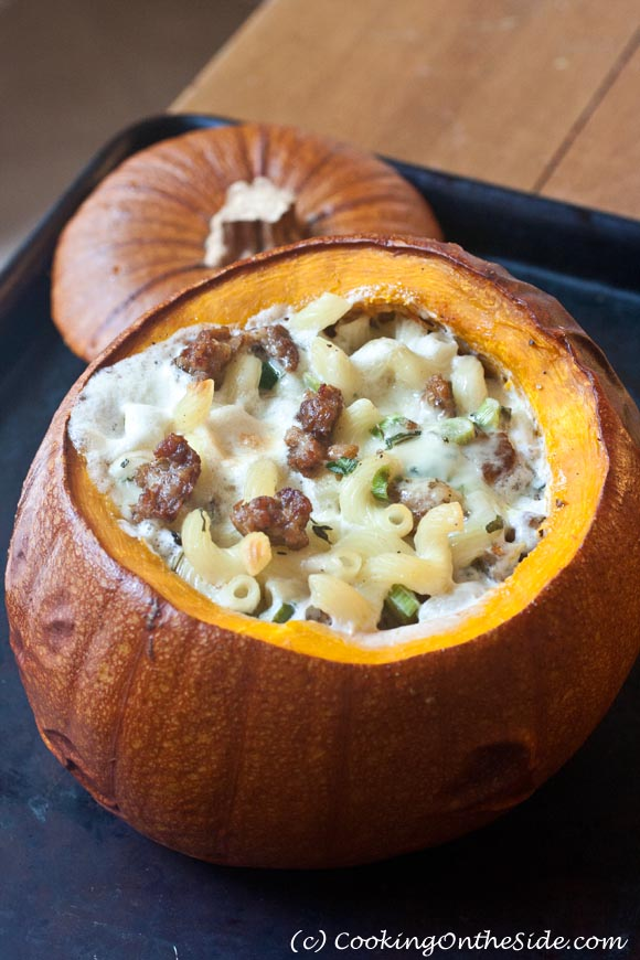 Post image for Mac & Cheese Stuffed Pumpkin