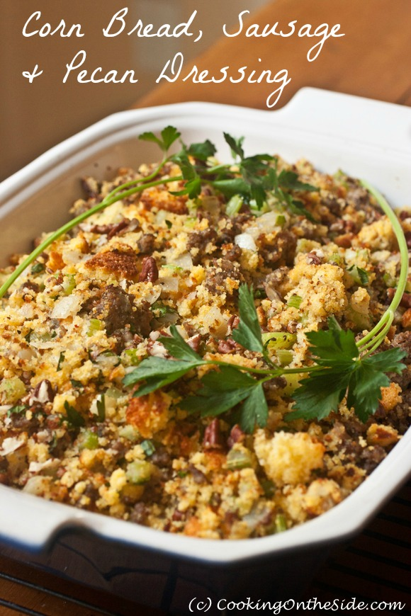 Post image for Corn Bread, Sausage and Pecan Dressing
