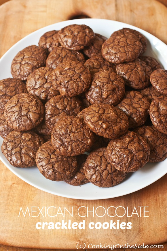 Post image for Mexican Chocolate Crackled Cookies